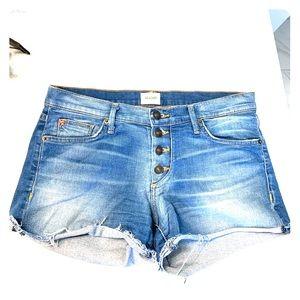 Hudson cut off daisy-dukes. Jean shorts button up